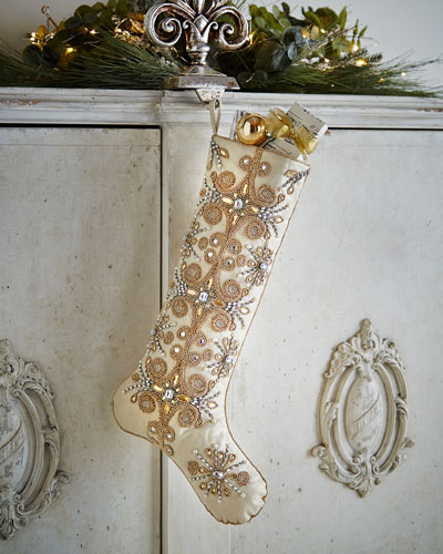 Jeweled Tiara Christmas Stocking