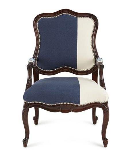 Michael Colorblock Bergere Chair