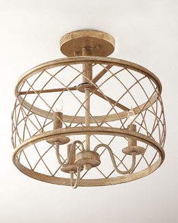 Delaney 3-Light Semi-Flush Ceiling Fixture