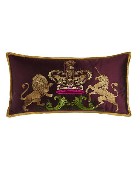 """Coat of Arms Pillow, 24"""" x 12"""""""