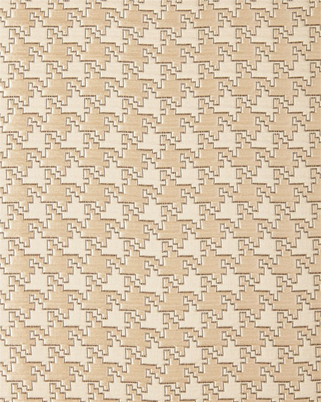 """Houndstooth Check Neck Roll Pillow, 6"""" x 19"""""""