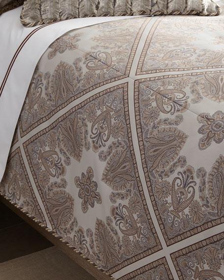 Queen Paisley Parquet Duvet Cover