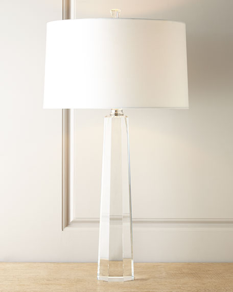 Crystal prism table lamp