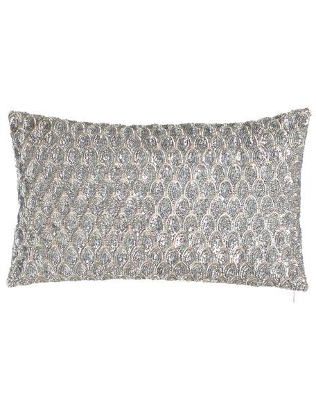 "Pompano Sequin Pillow, 12"" x 20"""