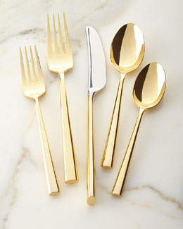 5-Piece Malmo Gold Flatware Place Setting