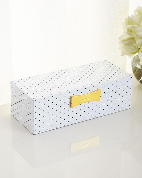 Polka Dot Rectangular Jewelry Box