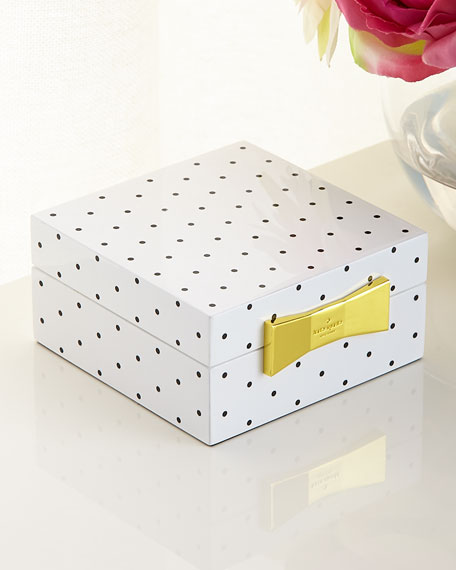 Polka Dot Square Jewelry Box