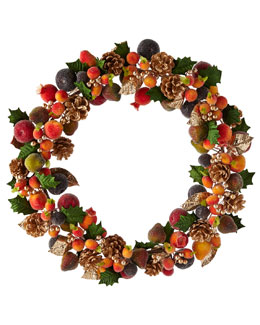 Beaded Fruit Wreath