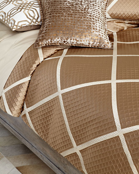 Queen Braedon Lattice Duvet Cover