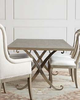 Gant Metal-Base Dining Table