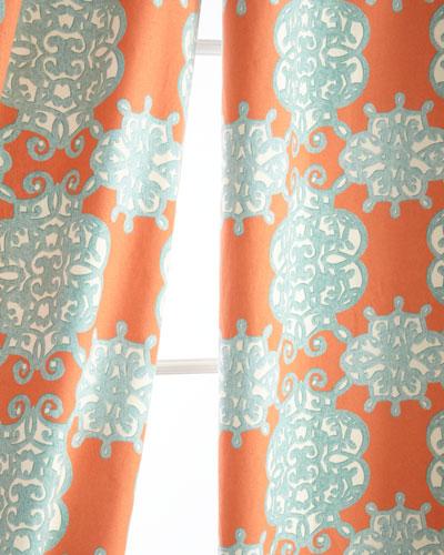 Two 50W x 84L Jakarta Curtains