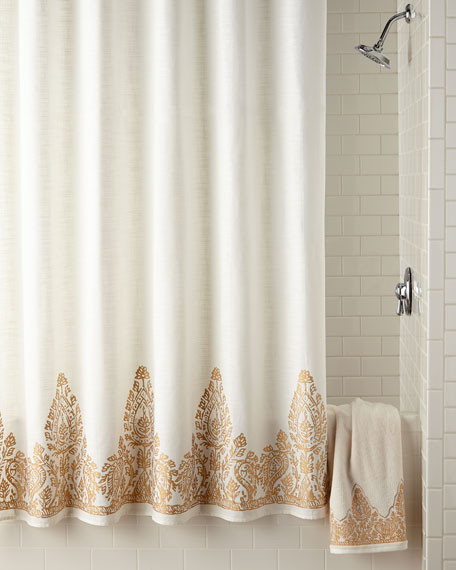 extra brown and red shower curtain. Nadir Shower Curtain Designer Curtains  Fabric Floral at Horchow