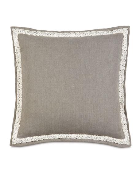 """European Breeze Linen Pillow, 27""""Sq."""