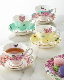 Teacups & Saucers, Set of 4