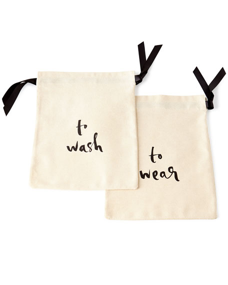 To Wash & To Wear Lingerie Bags, 2-Piece