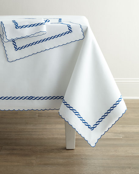 "Madeira Chain Tablecloth, 90""Dia."