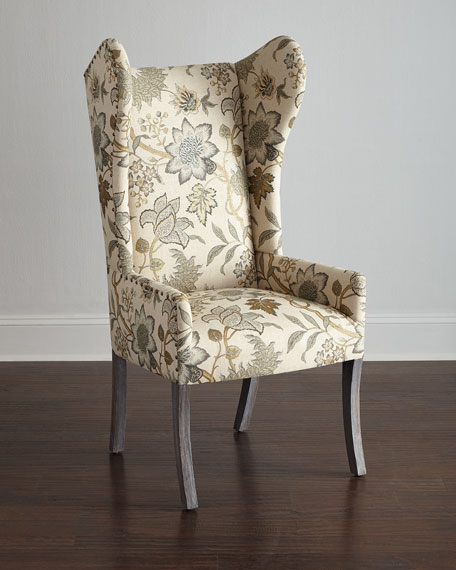 Hooker Furniture Floral Wing Chair, Julissa Banquette