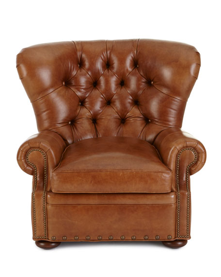Lansbury Tufted-Leather Chair