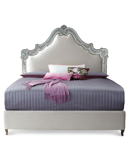 Venetian California King Mirrored Bed