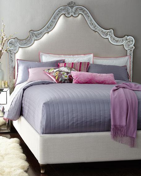 Venetian California King Mirrored Bed