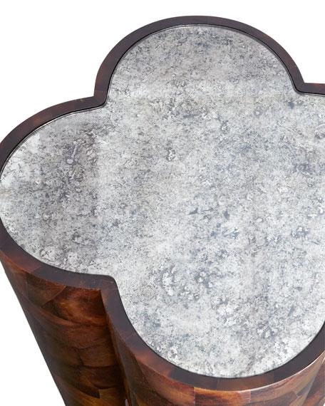 Poppy MIrror-Top Side Table