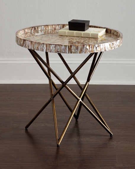 Palecek Marina Shell Side Table