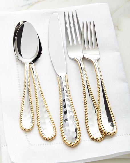 5-Piece Molten Golden Flatware Place Setting
