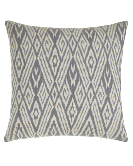 "Fog Ikat Pillow, 20""Sq."