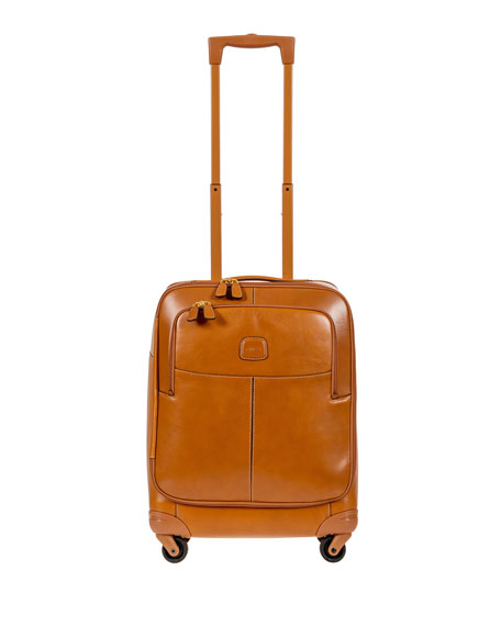 """Pelle Cognac 21"""" Carry-On Spinner Luggage"""