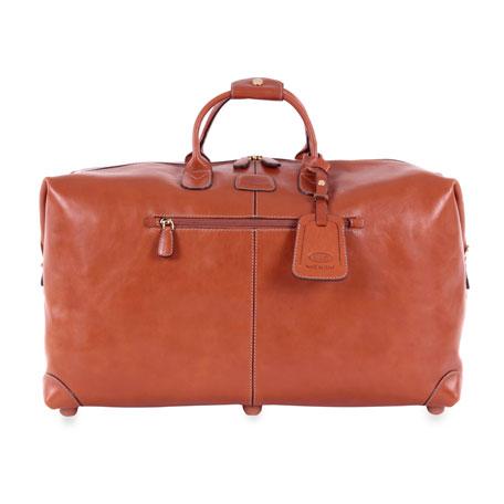 "Pelle Cognac 22"" Cargo Duffel Luggage"