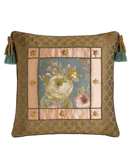 "Florabundance Pillow, 20""Sq."
