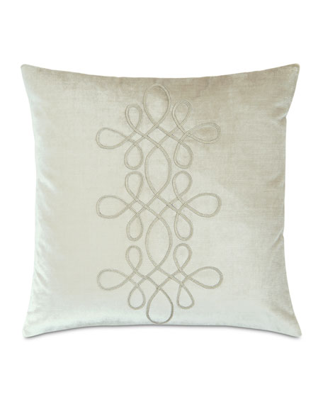 "Venice Scroll Pillow, 20""Sq."
