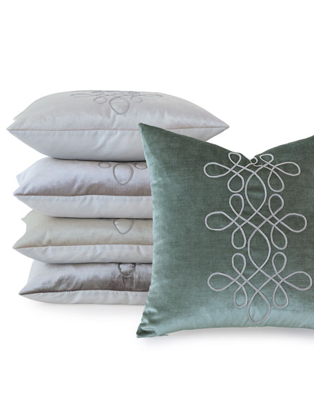 "Venice Scroll Pillow, 20""Sq."