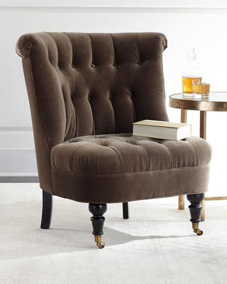 Neala Tufted-Velvet Chair