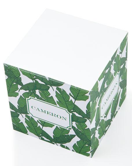 Banana Leaf Memo Cube