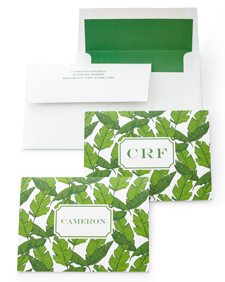 Banana Leaf Folded Notes with Personalized Envelopes
