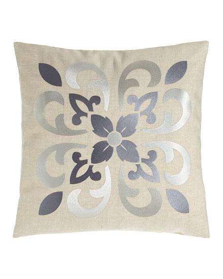 "Moroccan Tile Pillow, 16""Sq."