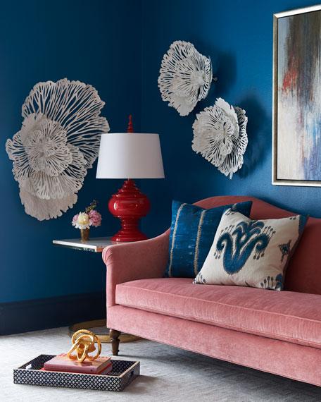 Cerise Velvet Sofa