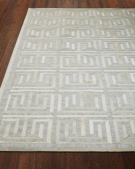 "Sterling Greek-Key Rug, 11'6"" x 14'6"""