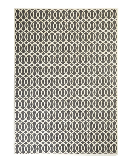 "Windrose Hairhide Rug, 9'6"" x 13'6"""