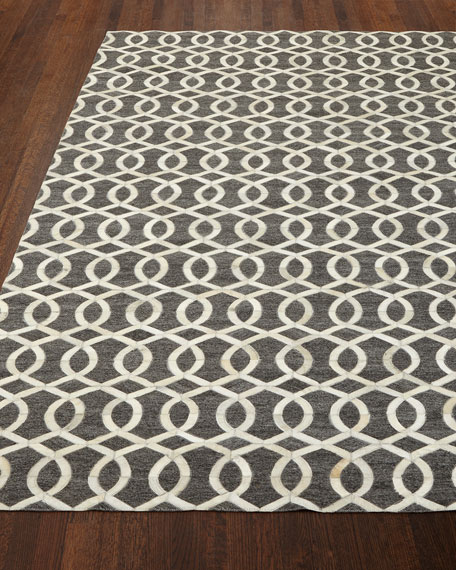 Windrose Hairhide Rug, 5' x 8'