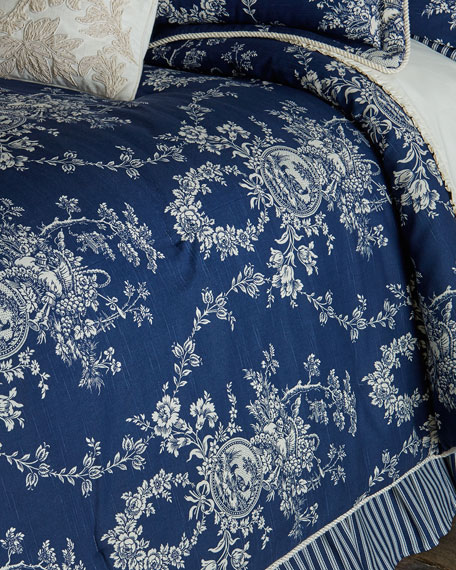 king 3piece country toile comforter set