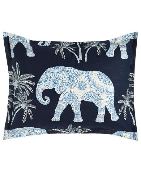 Standard Ellie Elephant-Print Sham