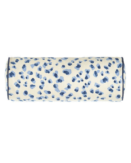 Jane Wilner Designs Ellie Leopard-Spot Neck Roll Sham,