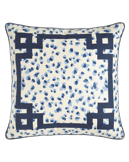 "Ellie Leopard-Spot Pillow, 20""Sq."