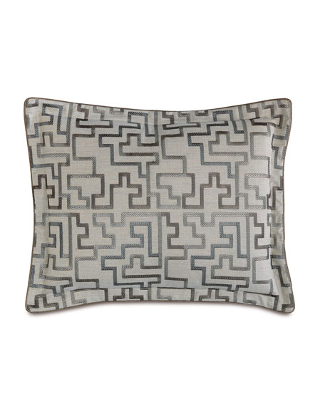 Standard Ezra Embroidered Pillow