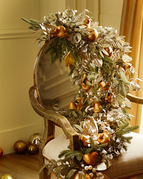 Frosted gold christmas garland