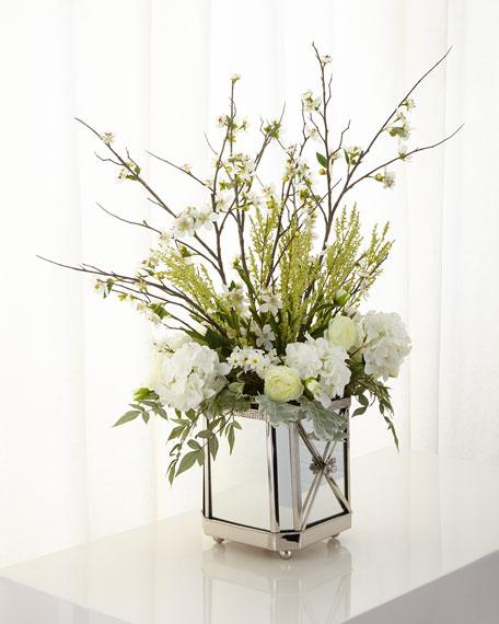 Garden Reflections Faux-Floral Arrangement