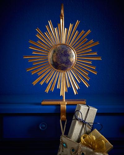 Eleana Sapphire & Gold Christmas Stocking Holder