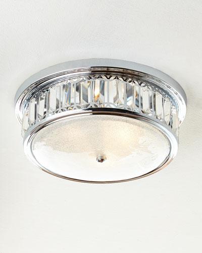 Silvery 3-Light Flush-Mount Ceiling Fixture